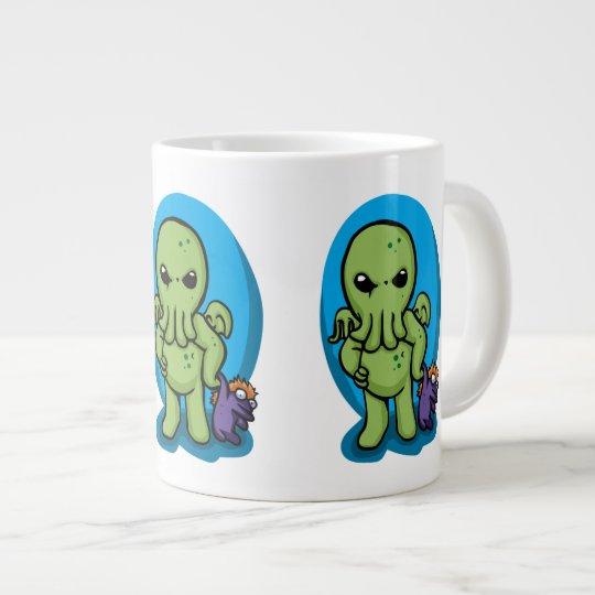 Baby cthulhu - cute cthulhu - cthulhu halloween large coffee mug
