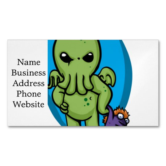 Baby cthulhu - cute cthulhu - cthulhu halloween Magnetic business card