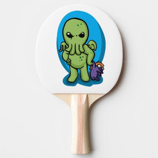 Baby cthulhu - cute cthulhu - cthulhu halloween ping pong paddle
