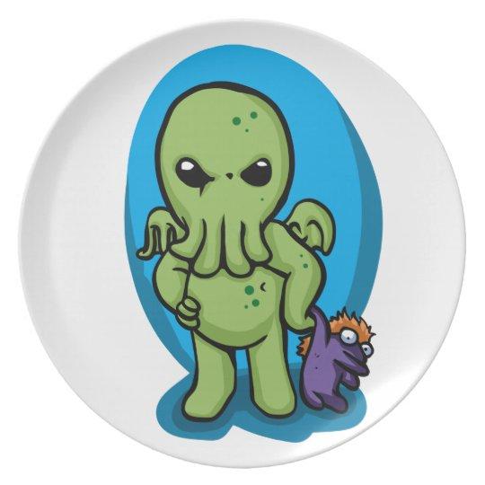 Baby cthulhu - cute cthulhu - cthulhu halloween plate