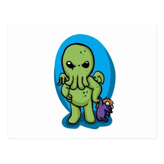 Baby cthulhu - cute cthulhu - cthulhu halloween postcard