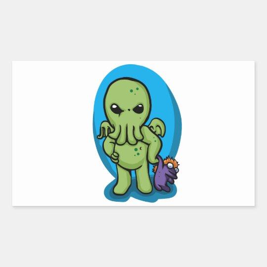 Baby cthulhu - cute cthulhu - cthulhu halloween rectangular sticker