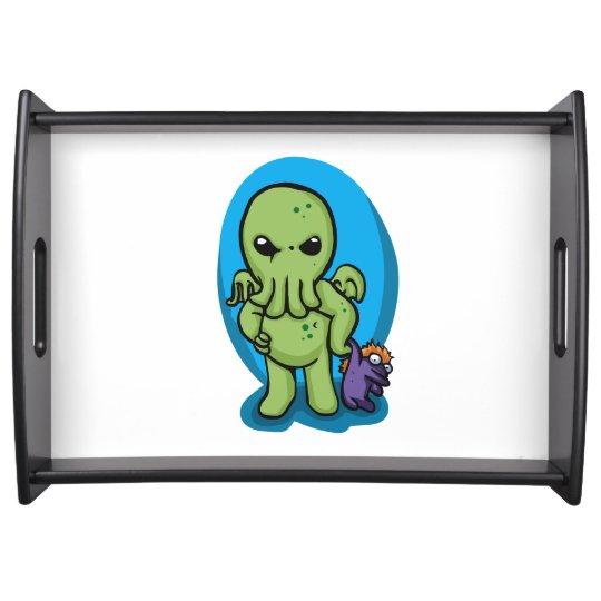 Baby cthulhu - cute cthulhu - cthulhu halloween serving tray