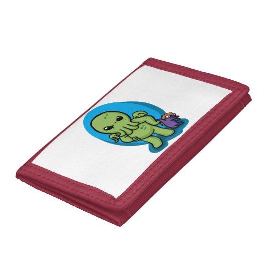 Baby cthulhu - cute cthulhu - cthulhu halloween tri-fold wallet