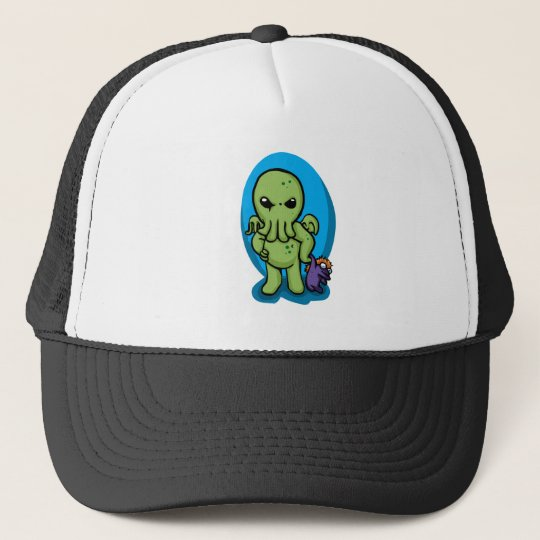 Baby cthulhu - cute cthulhu - cthulhu halloween trucker hat