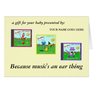 Baby D.J. Toon Cover, Toon Maestro CD, Toon Roc... Greeting Card