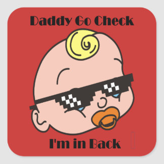 Baby Daddy Square Sticker
