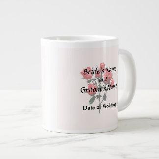 Baby Dark Pink Roses Large Coffee Mug