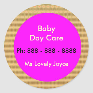 Baby Day Care  - Business Support Products Round Sticker