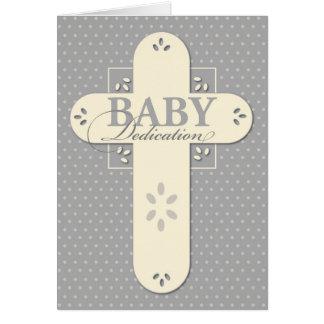 Baby Dedication Cream & Grey Cross
