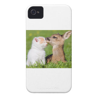 Baby Deer and Kitten Cuddle Case-Mate iPhone 4 Case