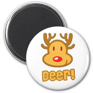 Baby Deer Cartoon 6 Cm Round Magnet