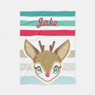 Baby Deer Christmas Blanket