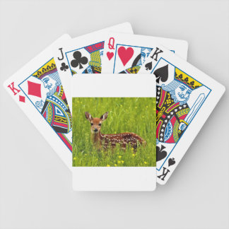 Baby Deer Fawn Bicycle Playing Cards