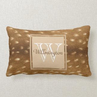 Baby Deer Fawn Fur Personalized Name Lumbar Cushion