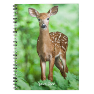 Baby Deer Fawn in the Forest Spiral Notebook