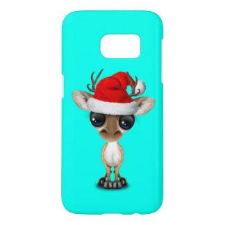 Baby Deer Wearing a Santa Hat