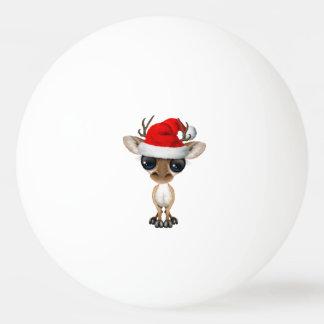 Baby Deer Wearing a Santa Hat Ping Pong Ball