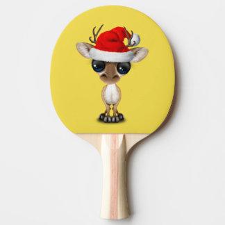Baby Deer Wearing a Santa Hat Ping Pong Paddle