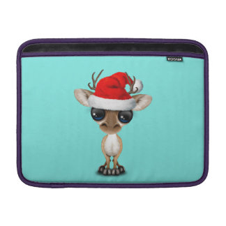 Baby Deer Wearing a Santa Hat Sleeve For MacBook Air