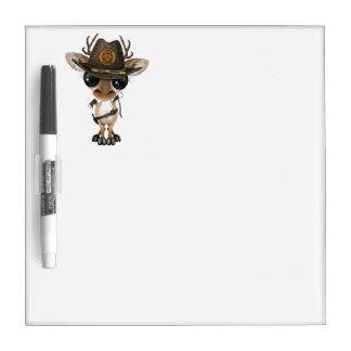 Baby Deer Zombie Hunter Dry Erase White Board