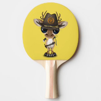 Baby Deer Zombie Hunter Ping Pong Paddle
