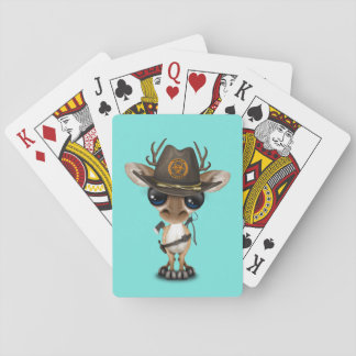 Baby Deer Zombie Hunter Playing Cards