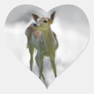 Baby deer's curiosity sticker