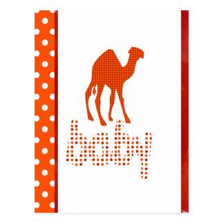 Baby Design Red Camel Postcard