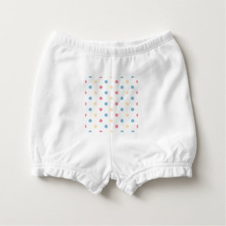 Baby diaper bloomers with romance Dots  /   Spring Nappy Cover
