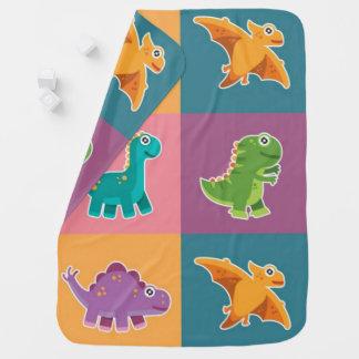 Baby Dino Friends Pattern Baby Blanket