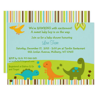 Baby Dinosaur Baby Shower Card