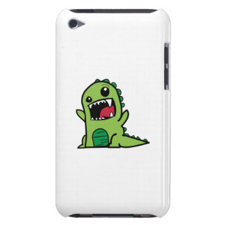 Baby dinosaur cartoon barely there iPod cases