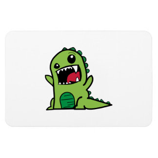 Baby dinosaur cartoon rectangular photo magnet