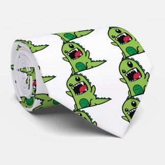 Baby dinosaur cartoon tie