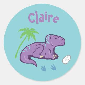 Baby Dinosaur Iguanodon Classic Round Sticker