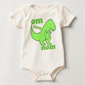baby dinosaur om nom nom rompers