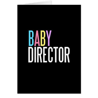 Baby director greeting card (welcome to the world)