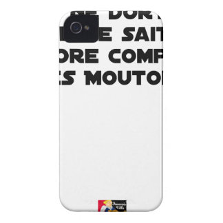 BABY DOES NOT SLEEP BECAUSE IT CANNOT COUNT YET iPhone 4 Case-Mate CASE