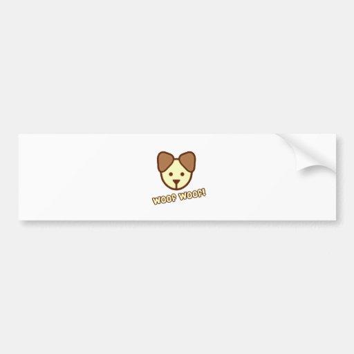 Baby Dog Cartoon Bumper Sticker