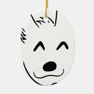 Baby dog ceramic ornament
