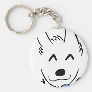 Baby dog key ring