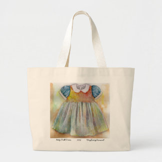 Baby Doll Dress Large Tote Bag