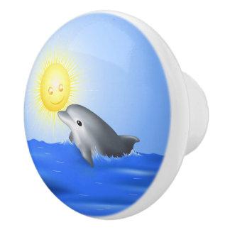 Baby Dolphin Ceramic Knob