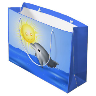 Baby Dolphin Large Gift Bag
