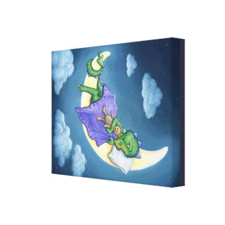 Baby Dragon Dreams Canvas print