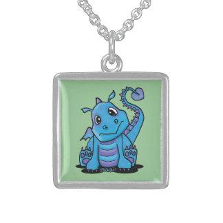 Baby Dragon Silver Necklace