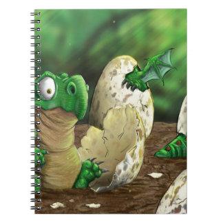 Baby Dragon Spiral Notebooks