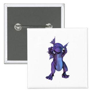 Baby Dragon Square Pin