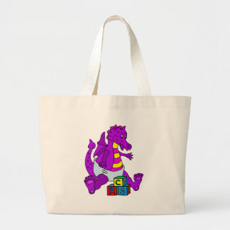 Baby Dragon with Blocks Bag